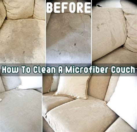 how to clean a microfiber with one ingredient