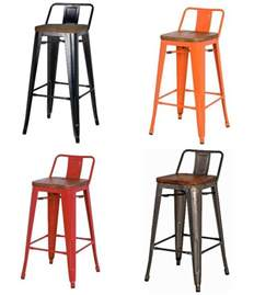 Low Back Bar Stool Metropolis Low Back Bar Stool Wood Seat