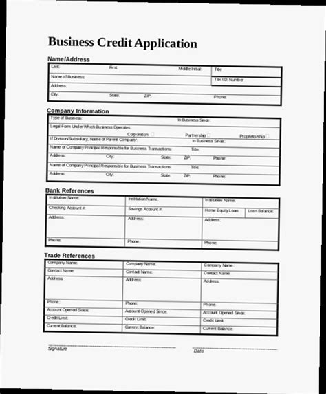 Sle Credit Application Form For Business Sle Credit Application For Small Business Adblockerapp Co