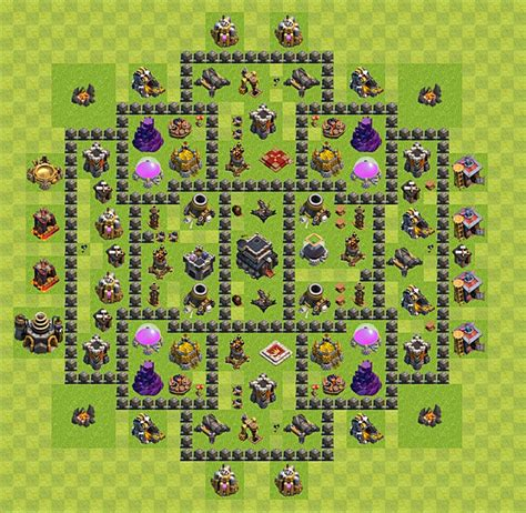 Layout Level 9 Clash Of Clans | clash of clans base plan layout for trophies town hall