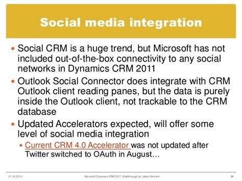 microsoft dynamics crm 2013 outlook integration part 2 microsoft dynamics crm 2011 walkingthrough part 2