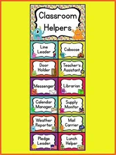 printable classroom job templates classroom helpers printables preschool pictures to pin on