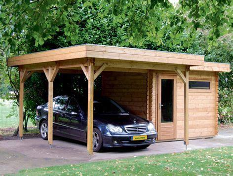 dublin wooden carport workshop combination  lugarde