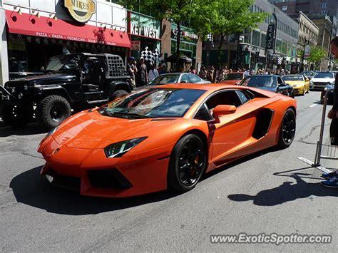 Lamborghini Aventador Price Canada Lamborghini Aventador Spotted In Montreal Canada On 06 07