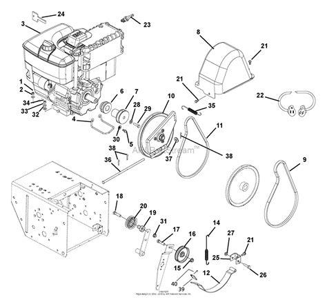 ariens parts diagrams ariens 926101 002692 926le 9hp tecumseh 26 quot parts
