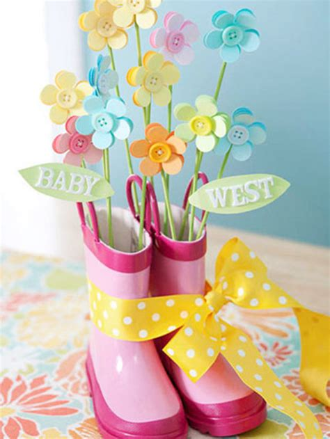 baby shower centerpieces lets get crafty 10 cute diy baby shower centerpieces