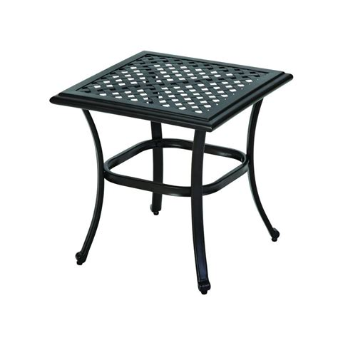 Outdoor Patio Side Table Hton Bay Fall River Patio Side Table D11034 Ts The Home Depot