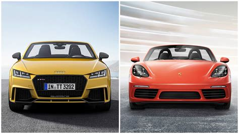 Audi Vs Porsche by 2017 Audi Tt Rs Vs Porsche 718 Boxster And 718 Cayman