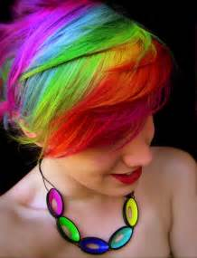 rainbow hair color pictures rainbow hair strayhair