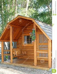 small cottage house plans with porches small wood cabin stock photography image 5752512