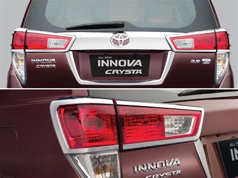 Garnis Lu Depan Innova 2016 Luxuri Reborn new toyota innova crysta accessories list drivespark news
