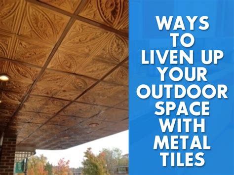 10 ways to up your outdoor space with string lights 7 ways to use metal tiles outdoors