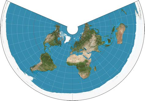 conic map equidistant conic projection