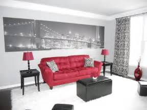 white red amp black living room color theme and rustic