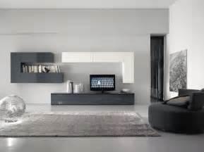 Moderne Wohnzimmer Wande Wohnwand Schrankwand Weiss Grau Hochglanz Lack Italia Day