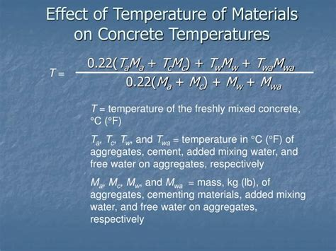 influence of temperature on the strength of concrete classic reprint books ppt cold weather concreting powerpoint presentation id