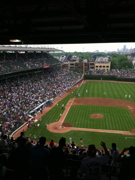 wrigley field section  home  chicago cubs