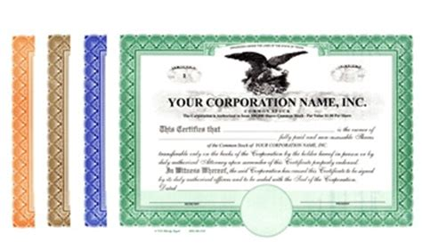 Stock Certificates Corporate Certificates Membership Certificates Llc Certificates And Share Llc Member Certificate Template
