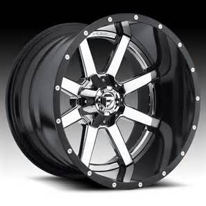Custom Chrome Truck Wheels Fuel D260 Maverick 2 Pc Chrome Black Truck Wheels Rims