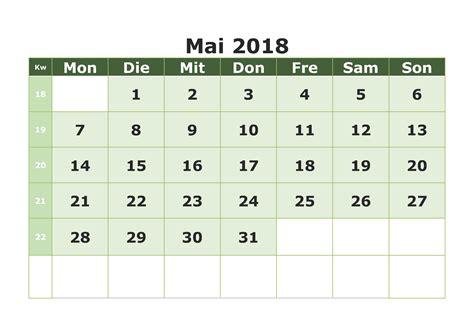 Kalender 2018 Juni Feiertage Mai Kalender 2018 Mit Feiertagen