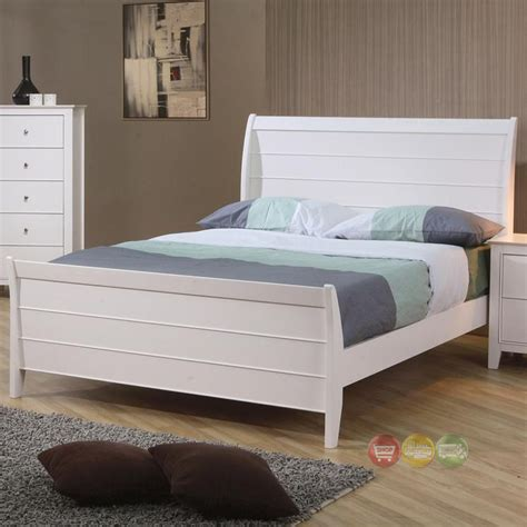 twin bed white wood selena white wood twin size sleigh bed 400231t coaster