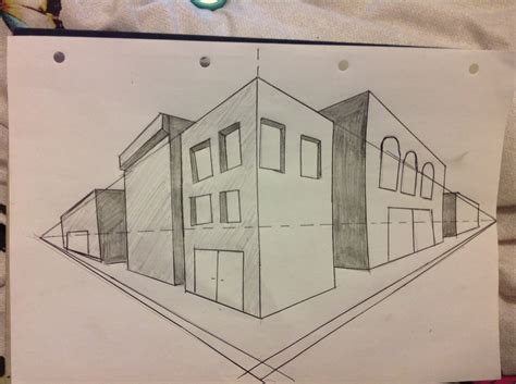 how to draw buildings in 3d pencil drawing