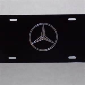 Mercedes License Plates Mercedes Custom 3d License Plate Black Chrome Nd