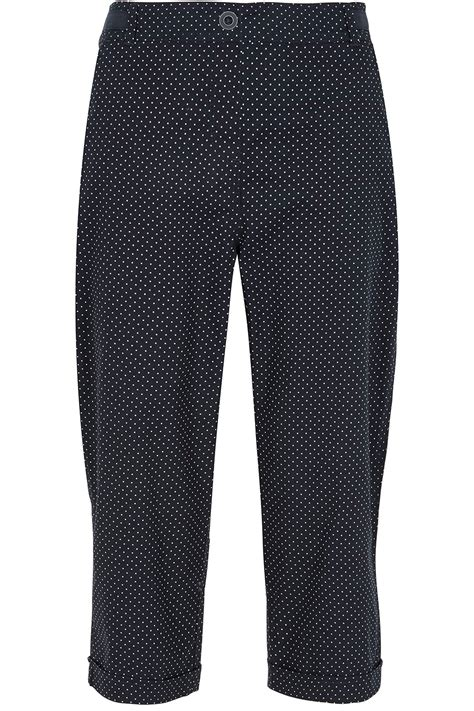 Cotton Cropped Trousers buy spot print cotton cropped trousers home delivery