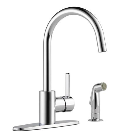 peerless p299565lf apex two handle kitchen faucet chrome peerless apex single handle standard kitchen faucet with