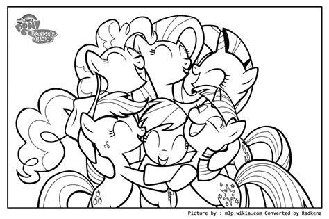 my little pony coloring pages all ponies radkenz artworks gallery my little pony