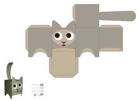 Papercraft Cat - cat papercraft craft ideas