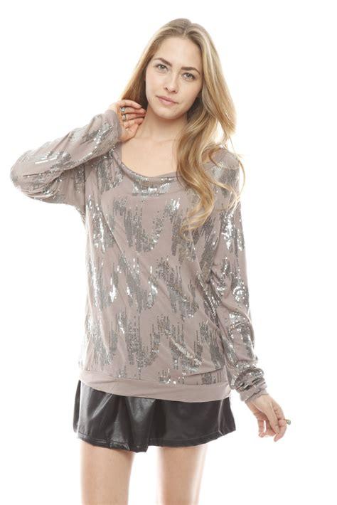 Blouse Sequin velvet sleeve sequin blouse from windham by fringe