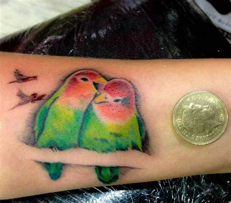 love birds tattoo design on wrist tattooimages biz