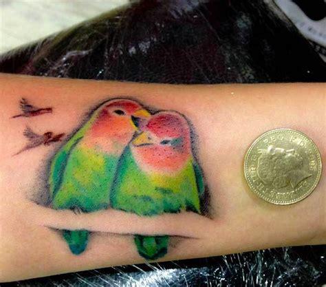love birds tattoo design on wrist tattooimages biz