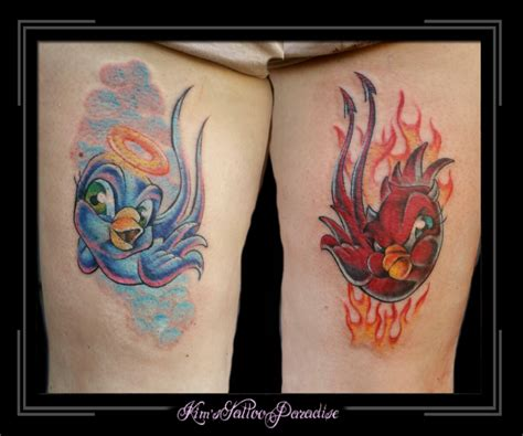 engel en duivel kim s tattoo paradise