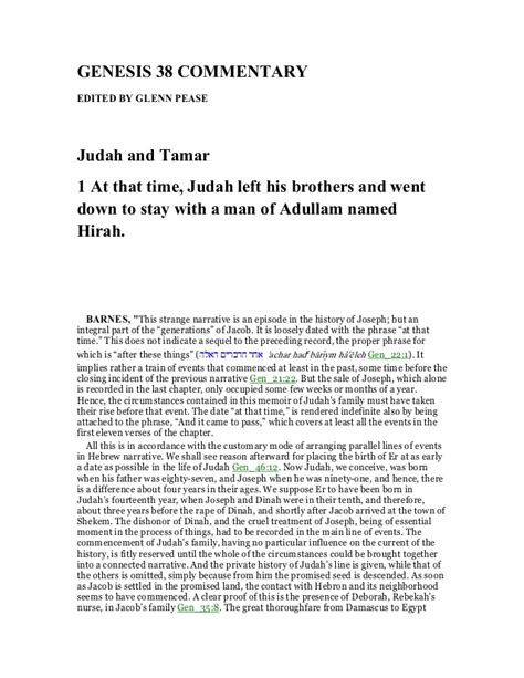 genesis chapter 38 genesis 38 commentary