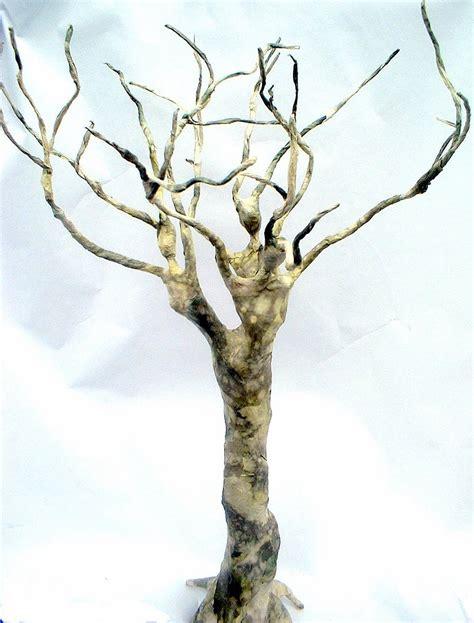 How To Make A Paper Mache Tree - figurative paper one of a paper mache sculpture by