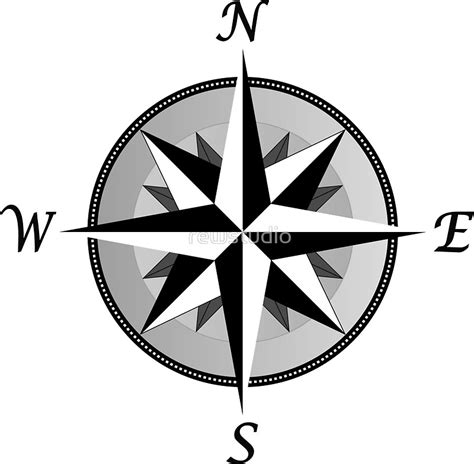 Nautica Duvet Quot Compass Rose Fancy Quot Stickers By Rewstudio Redbubble