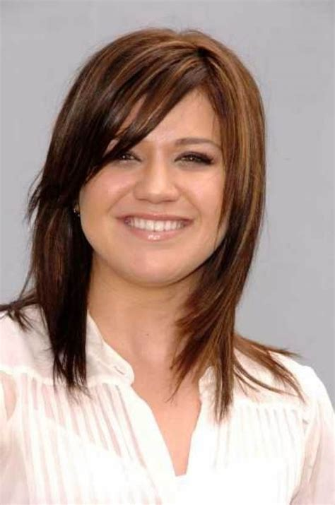mid lenth beveled haircuts medium length hairstyles for thin hair with bangs