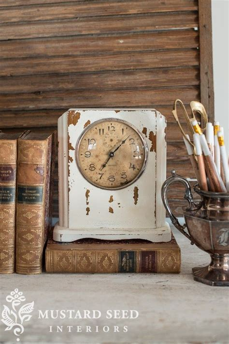 Mustard Seed Home Decor A Vintage Clock Is Easily Updated Into A Stylish Of