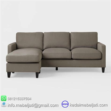 Sofa Sudut Di beli sofa tamu sudut minimalis seri toba bahan kayu jati