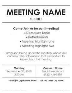 word flyer template meeting flyer templates for word