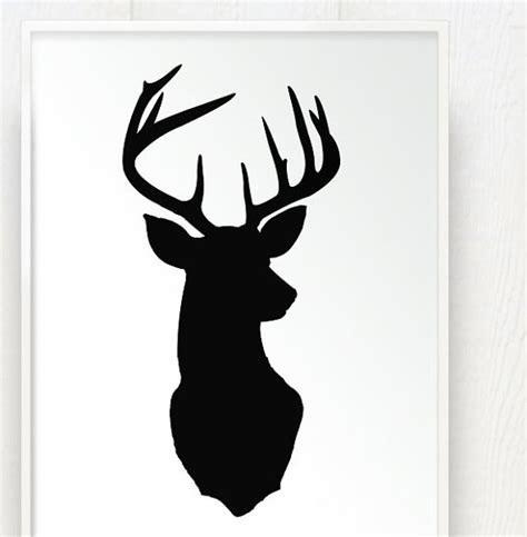 Coloured Kitchen Knives Deer Antler Silhouette Clipart Best