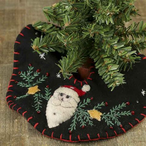 small christmas santa embroidered tree skirt trees and