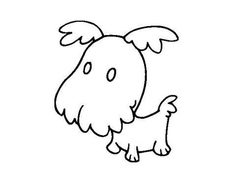 dibujos de perros para colorear dibujosnet dibujo de perro grif 243 n cachorro para colorear dibujos net