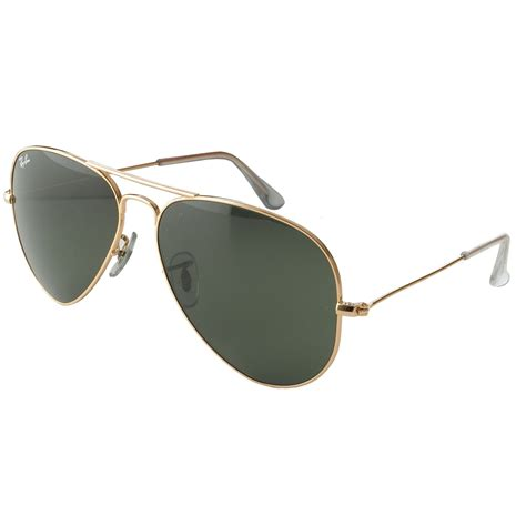rayban aviator sunglasses gold frame with 62mm g 15 lens