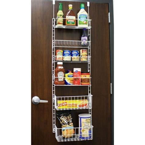 Adjustable Pantry Door Rack by The Door Storage Rack W Adjustable Shelves Ebay
