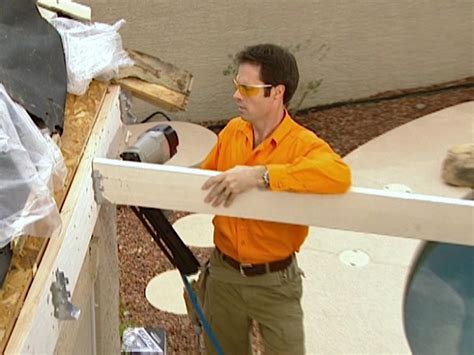 remove outdoor l post create rafters for a patio roof how tos diy
