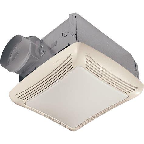 nutone  cfm ceiling bathroom exhaust fan  light rln  home depot