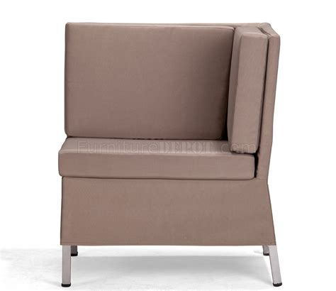 outdoor modular furniture beige water resistant fabric modern 5pc modular outdoor sofa